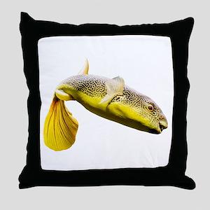 Giant Freshwater Puffer Fish (Tetraod Throw Pillow