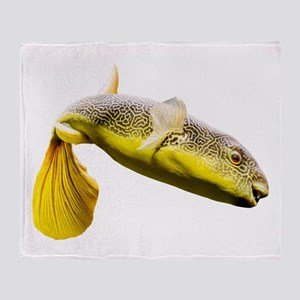 Giant Freshwater Puffer Fish (Tetrao Throw Blanket