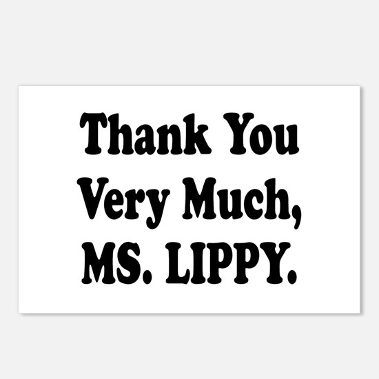 Thank You Ms. Lippy Postcards (Package of 8)