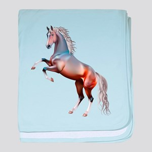 Vivid horses design baby blanket