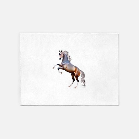 Vivid horses design 5'x7'Area Rug
