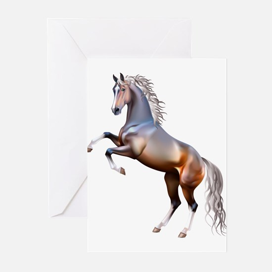 Vivid horses design Greeting Cards