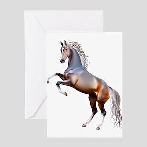 Vivid horses design Greeting Cards