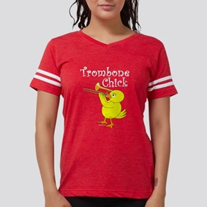 Trombonist Chick Text Women's Dark T-Shirt