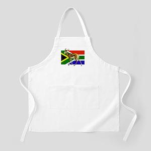 South Africa Springbok Flag Apron