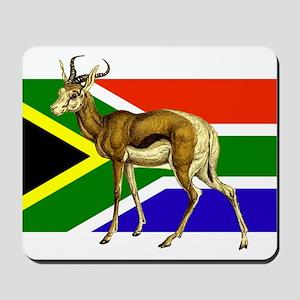 South Africa Springbok Flag Mousepad