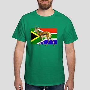 South Africa Springbok Flag Dark T-Shirt