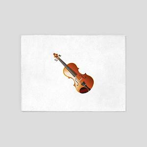 Violin creative art 5'x7'Area Rug