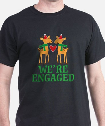 Christmas Engagement Engaged T-Shirt