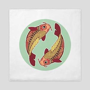 Pisces zodiac sign Queen Duvet