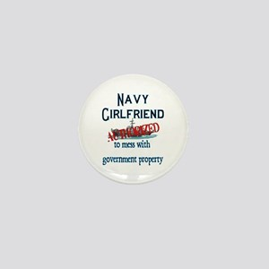 Navy Girlfriend Authorized Mini Button