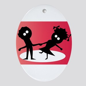 Dancing Couple Oval Ornament
