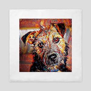 Lakeland Terrier: A Portrait in Oil Queen Duvet