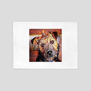 Lakeland Terrier: A Portrait in Oil 5'x7'Area Rug