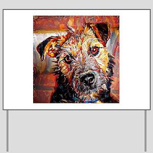 Lakeland Terrier: A Portrait in Oil Yard Sign