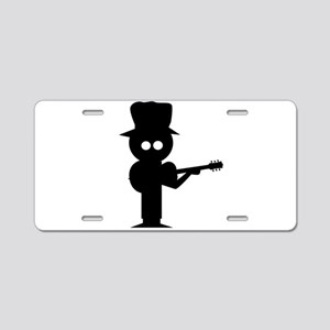 Boy Folk Singer Aluminum License Plate