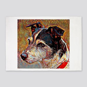 Jack Russell: A Portrait in Oil 5'x7'Area Rug
