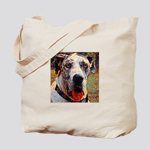 Great Dane: A Portrait in Oil Tote Bag