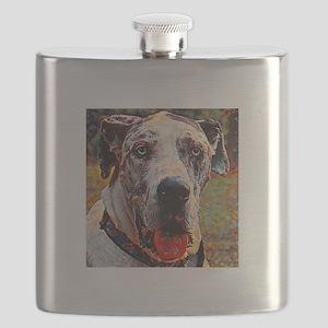 Great Dane: A Portrait in Oil Flask