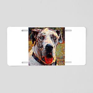 Great Dane: A Portrait in O Aluminum License Plate