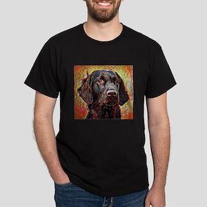 Flat Coated Retriever: A Portrait in Dark T-Shirt