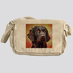 Flat Coated Retriever: A Portrait in Messenger Bag