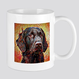 Flat Coated Retriever: A Portrait in Oi Mug