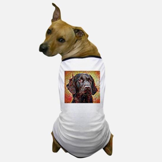 Flat Coated Retriever: A Portrait in O Dog T-Shirt