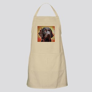 Flat Coated Retriever: A Portrait in Oil Apron