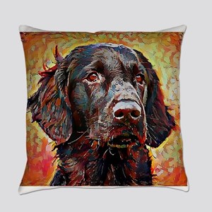 Flat Coated Retriever: A Portrait Everyday Pillow