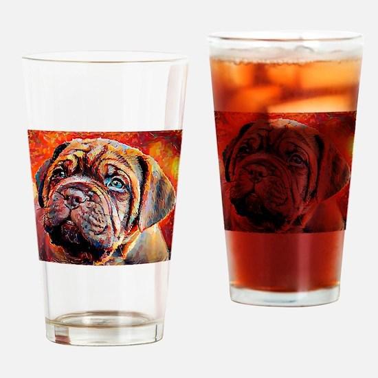 Dogue de Bordeaux: A Portrait in Oi Drinking Glass