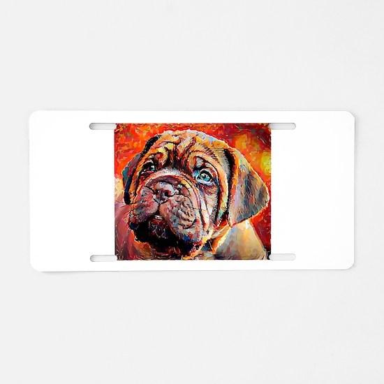 Dogue de Bordeaux: A Portra Aluminum License Plate