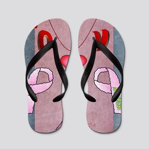 12th Quote; Love Wording & Breast Cance Flip Flops