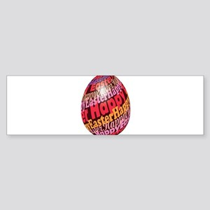 Brown Easter egg with full of typog Bumper Sticker