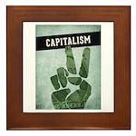 Capitalism Framed Tile