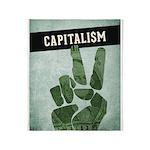 Capitalism Throw Blanket