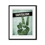 Capitalism Framed Panel Print