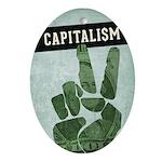 Capitalism Oval Ornament