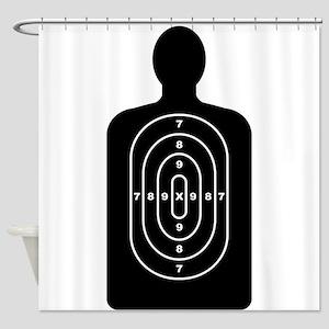 Human Shape Target Shower Curtain