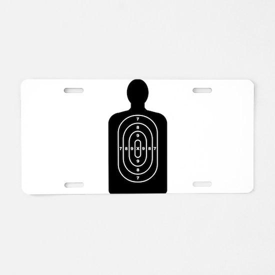 Human Shape Target Aluminum License Plate