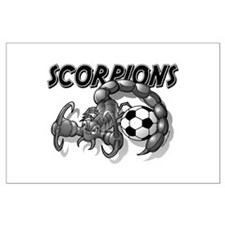 Black Scorpions Soccer Large Poster