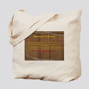 15th Quote; Opportunity Knocking Tote Bag