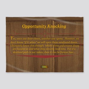 15th Quote; Opportunity Knocking 5'x7'Area Rug