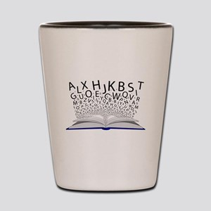 Book of Letters Shot Glass
