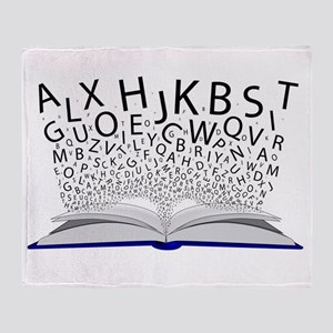 Book of Letters Throw Blanket
