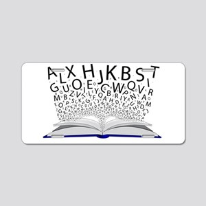 Book of Letters Aluminum License Plate