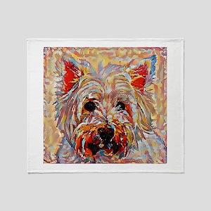 West Highland Terrier: A Portrait in Throw Blanket