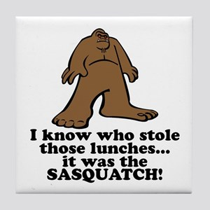 Sasquatch Stole the Lunches Tile Coaster