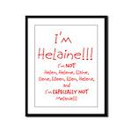 I'm Helaine Framed Panel Print
