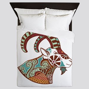 Capricorn zodiac sign Queen Duvet